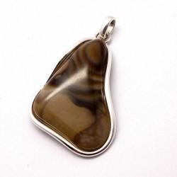 Wisiorek srebrny z krzemieniem pasiastym srebro 925